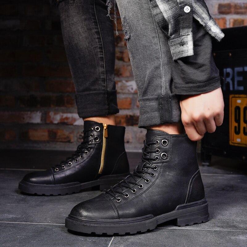 Negro Calzado Rojo De Otoño Martens Calidad Black Nuevo Moda Zapatos Boots A red Los Fondo Hombres Thestron Botas Boots zqvwxPpF