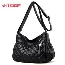 Portable Women Messenger Bag Medium Lady Handbag Soft Washed Leather Shoulder Bags Female Crossbody Bag luis O V torebki damskie