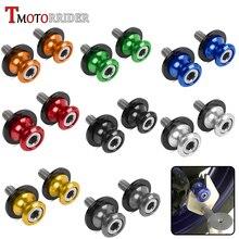 Motorcycle Accessories Aluminum Swingarm 8mm Slider Spool Stand Screw Stud Bolt Nut Kit for Honda Suzuki Ducati Kawasaki