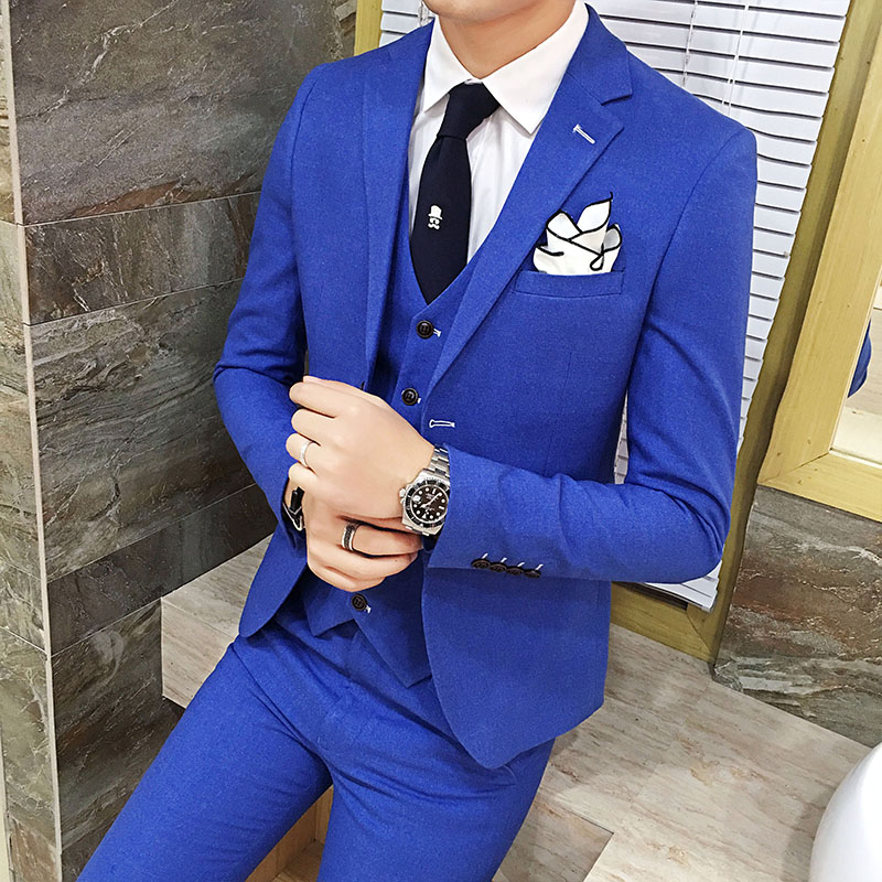 7770494968 LEFT ROM 2017 Men s suits three suits business dresses wedding dresses  Men s casual dress suit jacket   Vest + pants S 3XL-in Suits from Men s  Clothing on ...