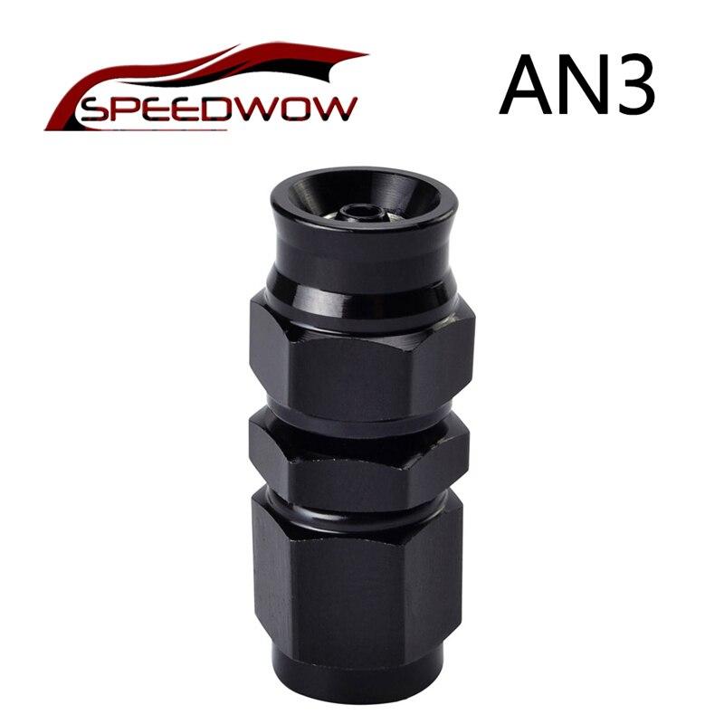 3 AN3 Brake Fittings Adaptor PTFE Teflon Swivel Hose End Straight Adapter AN