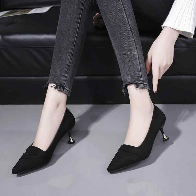 Lüks Ayakkabı Kadın Tasarımcıları Mor Siyah Süet Pilili Üst Bayanlar Pompalar Sivri Burun Yüksek Topuklar Üzerinde Kayma Gladyatör Pist 2019