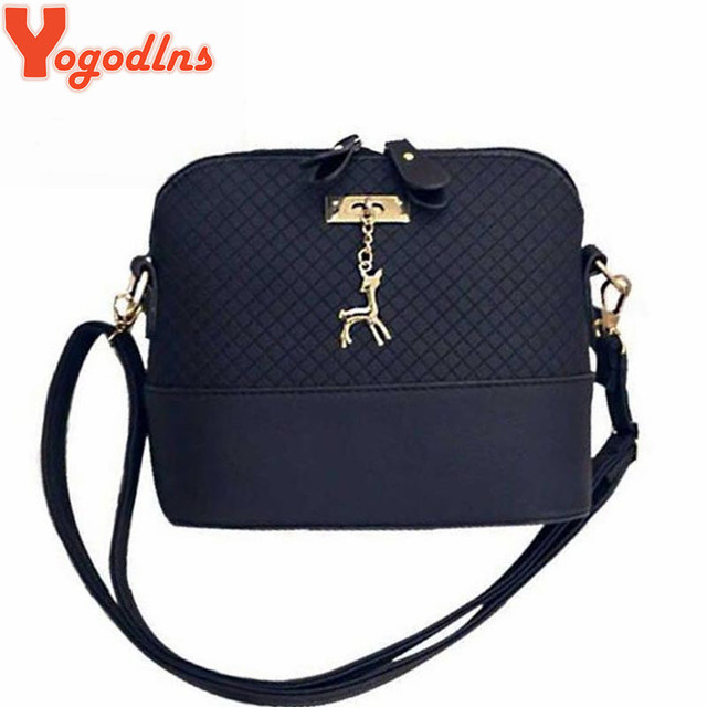 a38589cb4821e Yogodlns HOT SALE! Women Messenger Bags Fashion Mini Bag With Deer Toy Shell  Shape Bag Women Shoulder Bags free shipping