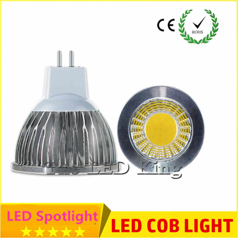 10X led bulb Lampada Led MR16 GU10 GU5.3 COB 9w 12w 15w Led Spotlight Warm White red blue green MR16 12V led Lamp GU 5.3 220V