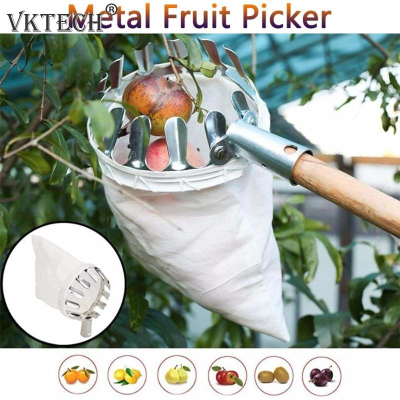 Metal Fruit Picker Orchard Gardening Apple Peach High Tree Picking Tools Fruit Catcher Collector Gardening Tools