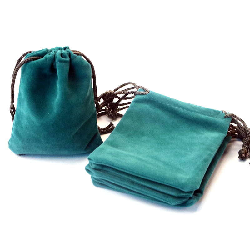 High Quality 10pcs 9x11cm Lake Blue Velvet Bags Pouches Drawstrings Soft Small Jewelry Velvet Gift Packing Bags