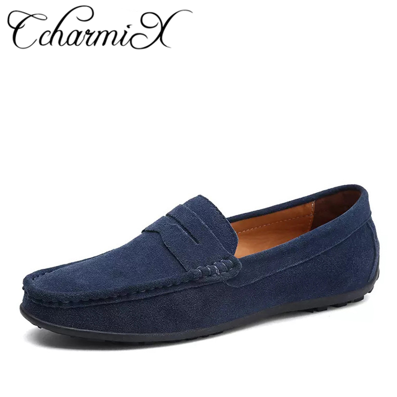 100% QualitäT Ccharmix 2019 Herren Loafer Männlichen Komfortable Schuh Slip On Mokassins Top Qualität Mode Männer Penny Loafers Männlichen Schuhe Große Größe