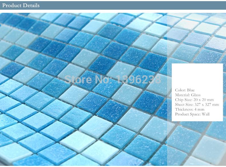 €111.84 |Pas cher!! Livraison gratuite! Carreaux de mosaïque de piscine  couleur bleue, salle de bains jardin balcon extérieur papier peint  autocollant ...