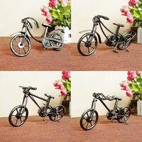 Retro Metal Bisiklet Bisiklet Modeli El Sanatları Çocuk Hediyeler Oyuncaklar Ev Dekorasyon Koleksiyonları Figürinler 4 Seçimler
