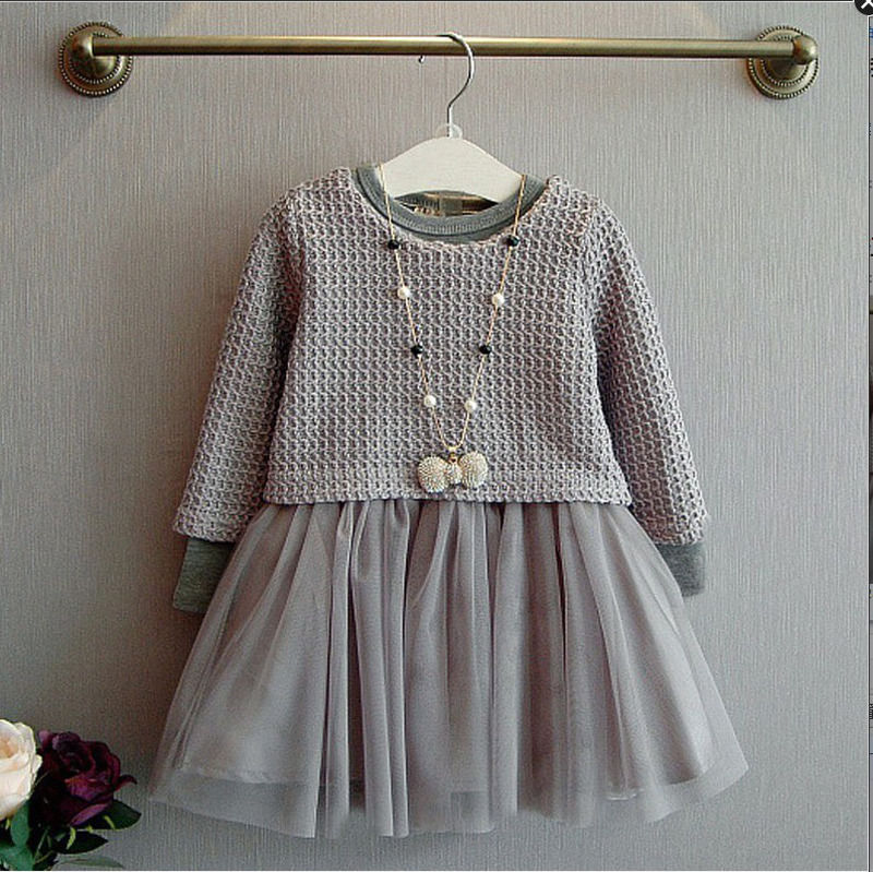Fashion Kids Baby Girl Dress Clothes Grey Sweater Top With Dresses Costume Cotton Children Clothing Girls Set 2 Pcs 2-7 Years fashion kids baby girl dress clothes grey sweater top with dresses costume cotton children clothing girls set 2 pcs 2 7 years