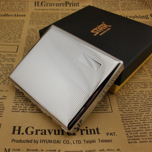 Contiene 20 Sigarette, Metallo Argento di Alta qualità In Acciaio Inox volume di