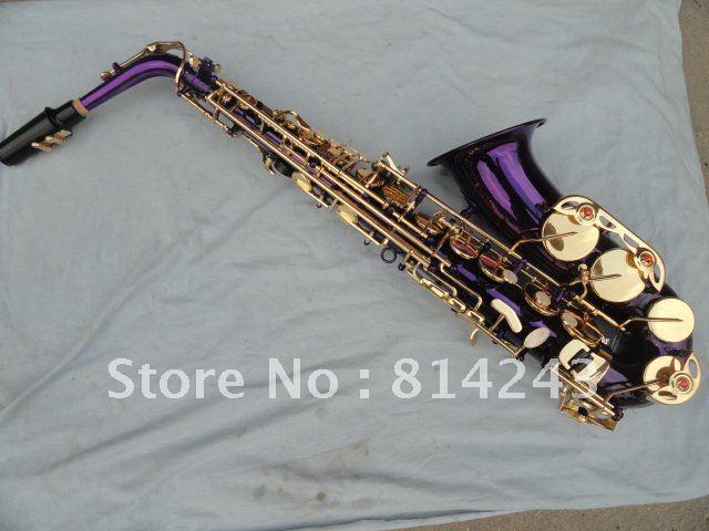 Selmer Students Alto Saxophone Purple Gold Saxofon High F Reference 54 Eb Saxophone Professional Musical font