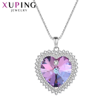 Xuping Jewelry Heart Shaped Pendant Sweet Little Fresh Crystals from Swarovski Lovely Valentine's Day Gifts for Women M67-4017