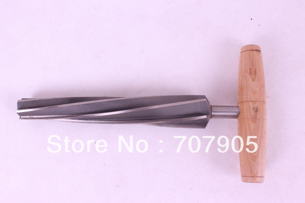 One high quality screw type double bass end pin reamer,tool #Q32 1 pc quality double bass end pin reamer luthier tool