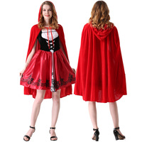 halloween costumes for women sexy cosplay little red riding hood fantasy game uniforms fancy dress free shipping