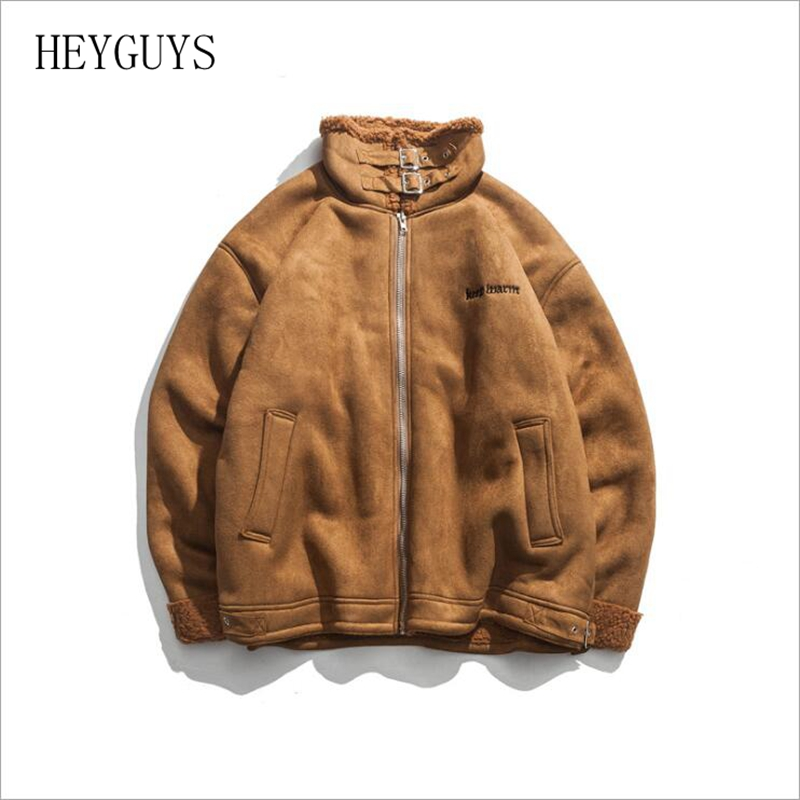2018 High Collar Coat Way Of Leisure Men's Coats Street Wear Clothing Green Coffee Couples Buckle Collar Material Block Jacket Various Styles