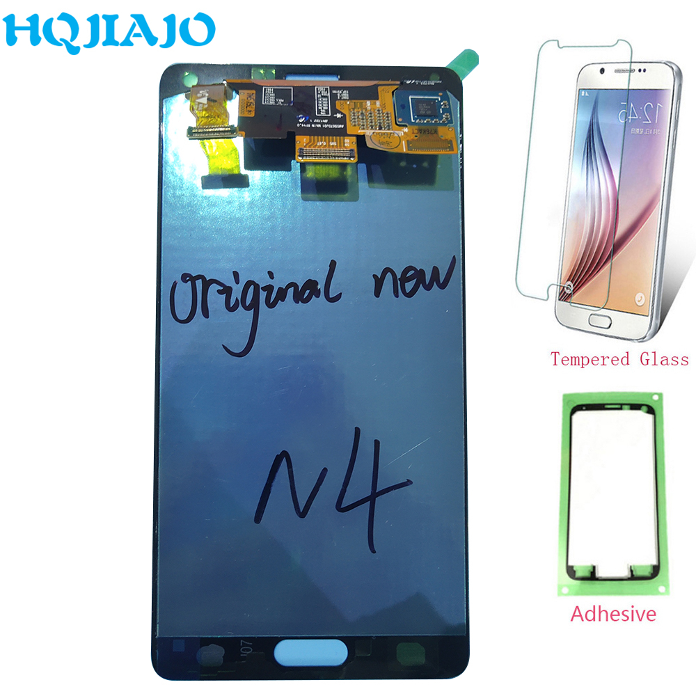 Original <font><b>LCD</b></font> <font><b>Screen</b></font> For <font><b>Samsung</b></font> <font><b>Note</b></font> <font><b>4</b></font> <font><b>LCD</b></font> <font><b>Display</b></font> <font><b>Touch</b></font> <font><b>Screen</b></font> <font><b>Digitizer</b></font> For <font><b>Samsung</b></font> Galaxy Note4 N910 N910A N910F N9100 Repair image