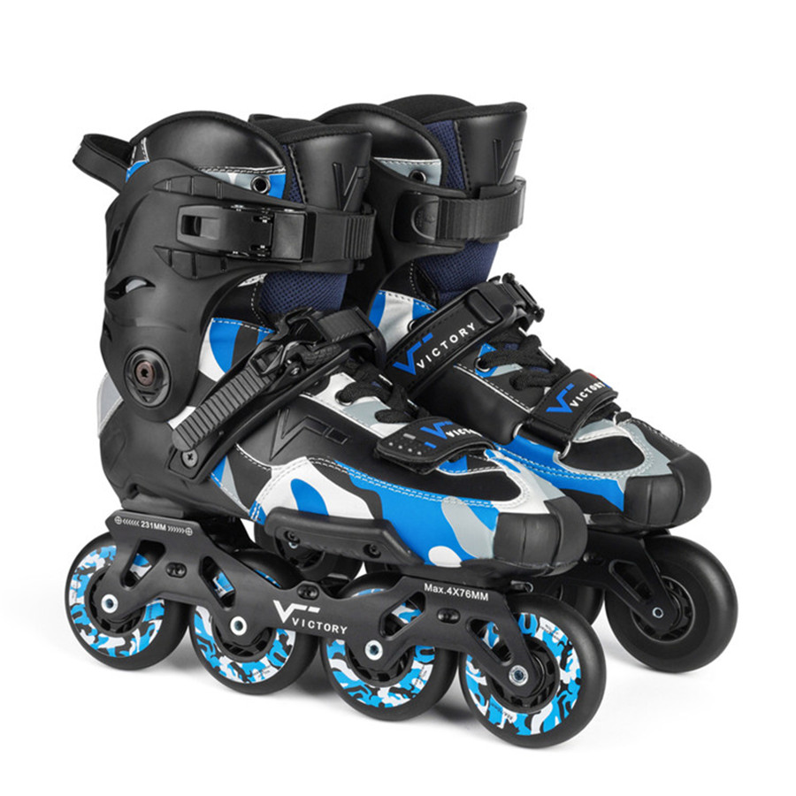 Sliding Inline Skates Roller Skating Shoes 4*76mm 4*80mm 90A Wheels Patines For Street Free Skating Similar With SEBA IGOR2 girls and ladies favorite white roller skates with full grain genuine leather dual lane roller skate shoes for adult skating