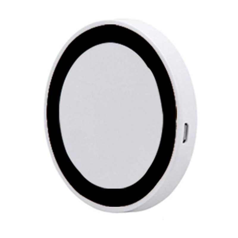 QC 3.0 Qi Wireless Charger Ultra-Thin Quick Wireless Charger Round Fast Charging Pad For Samsung Galaxy S8 S7 Edge Note 8