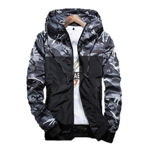 2017 Spring Men's Camouflage Coat Mens Hoodies Casual Jacket Brand Clothing Mens Windbreaker Coats Male Outwear 5XL(China)