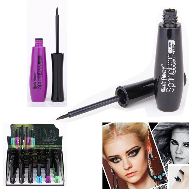 5color/set Makeup Liquid Eye Liner Soft Head Easy to Wear Long Lasting Waterproof Non Staining Beauty Health Eyes Eyeliner