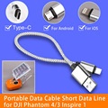 New Android IOS Portable Data Cable Short Data Line for DJI Phantom 4/3 Inspire 1