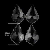 100mm stücke/Lot von Kristall Kronleuchter Maple Leaf Klarglas Anhänger Tropfen Perlen Ornamente DIY Kronleuchter Für Lampe teile-in Kronleuchter Kristall aus Licht & Beleuchtung bei