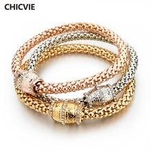Chicvie 3 шт винтажные золотые браслеты на запястье и подвески