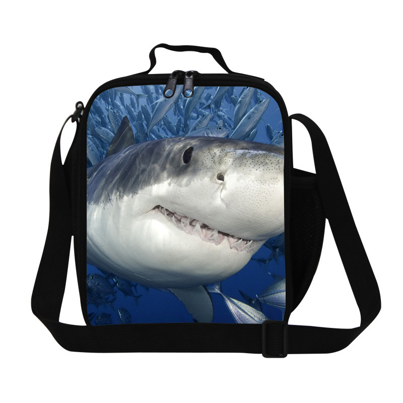Shark Lunch Bags 3D Animals Lunchbox Children Picnic Lancheira Termica Jaws Dog Lunch Box Students Kids Food Bags