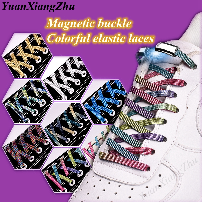 2019 New Magnetic ShoeLaces Elastic Locking ShoeLace Creative Quick No Tie Shoes Lace Kids Adult Unisex Sneakers Laces Strings