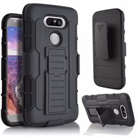 Shockproof Future Armor Impact Rugged Skin Hard Phone Case For LG G5 Rotates Holster With Belt
