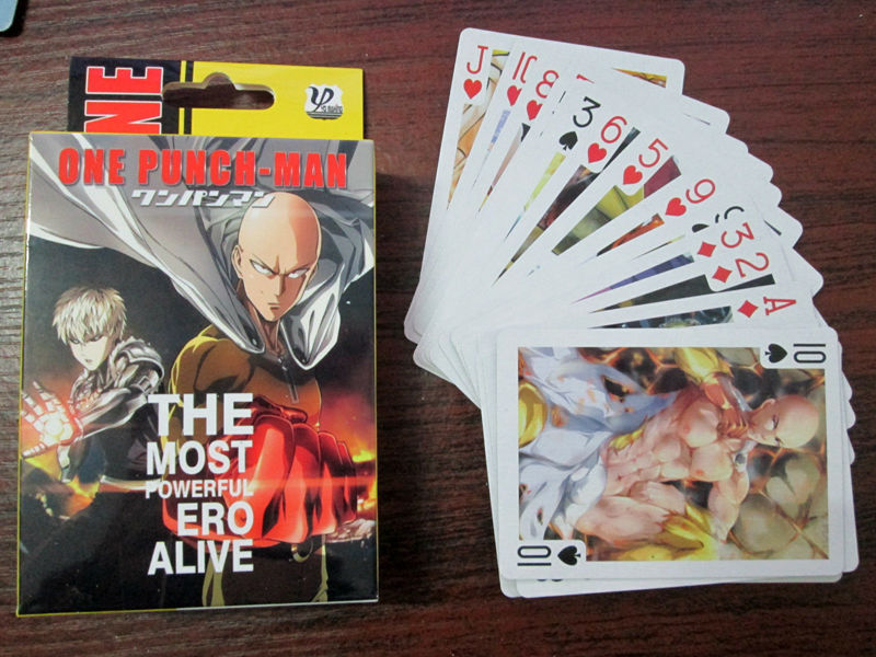 54 pcs/set One Punch Man figures anime ONE PUNCH-MAN Saitama,Jie Nuosi,tatsumaki  figures cosplay  Poker Cards free shipping
