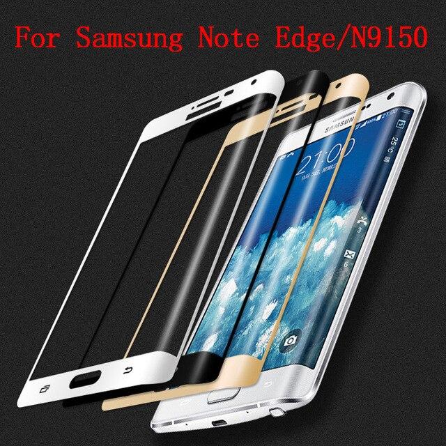Оригинальная 3D изогнутая поверхность для Samsung Galaxy Note Edge, полное покрытие экрана, Взрывозащищенная пленка из закаленного стекла для N9150
