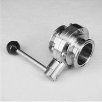 3 76 mm SS304 Stainless Steel Sanitary 3 Tri Clamp Butterfly Valve Homebrew Beer Dairy Product