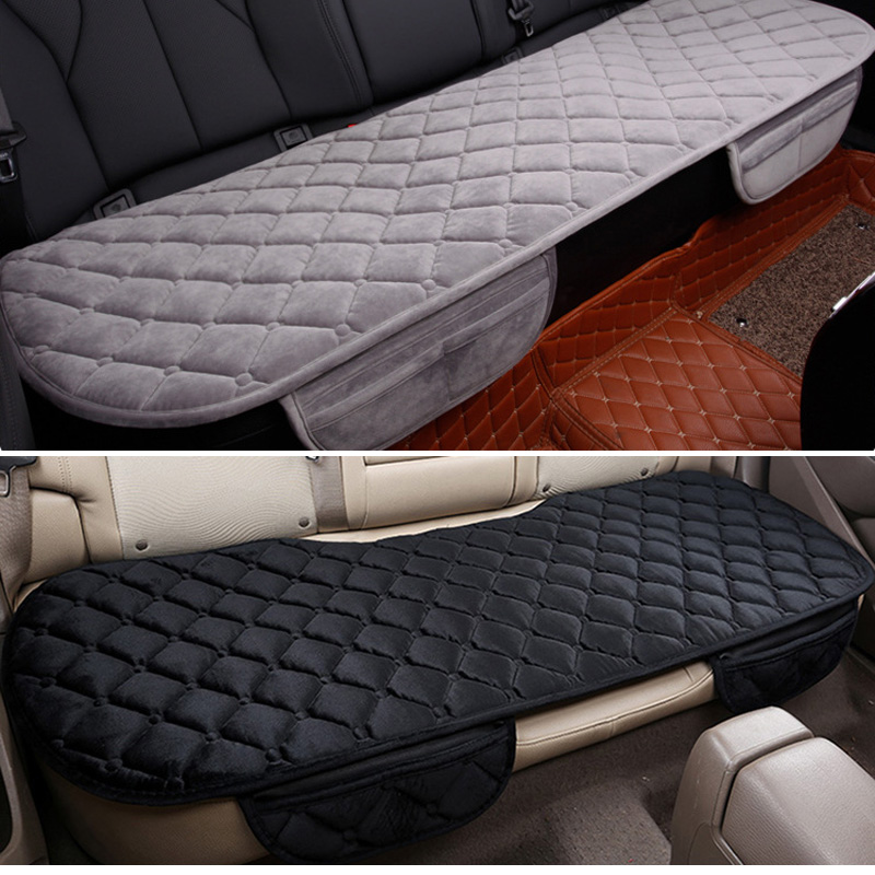 Car Seat Coves Protector Mat Auto Rear Seat Cushion Fit Most Vehicles Non slip Keep Warm Winter Plush Velvet Back Seat Pad-in Automobiles Seat Covers from Automobiles & Motorcycles