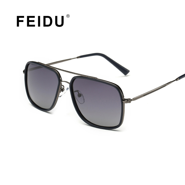 FEIDU 2016 NEW Polarized Brand Men Sunglasses Alloy Frame Gradient Lens Sunglasses For Men Fashion Gafas Oculos De Sol With Box