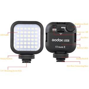Image 2 - Orijinal Godox LED36 LED Video Işığı 36 LED Işıkları Lamba Fotografik Aydınlatma 5500 ~ 6500 K DSLR Kamera Kamera için mini dvr