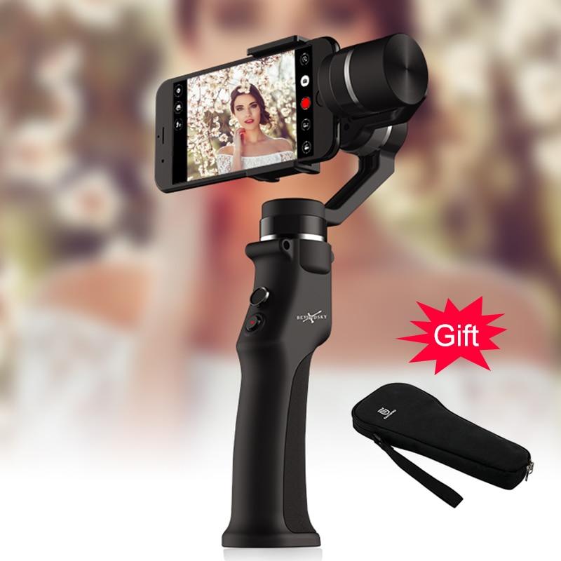 EYEMIND 3-Axis Gimbal Stabilizzatore per Smartphone GO Pro Macchina Fotografica Portatile Bluetooth APP Selfie Bastone estabilizador