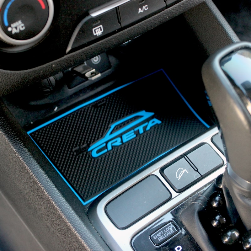 17PCS Rubber Non-Slip Door Mat Cup Mat Dusty-Proof Mats For Hyundai IX25 Creta 2015 2016 2017 2018 Accessories коврики в салонные ниши синие ix25 для hyundai creta 2016