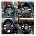 Free shipping Sew-on genuine leather car steering wheel cover Car accessories For Toyota Corolla Camry Highlander RAV4