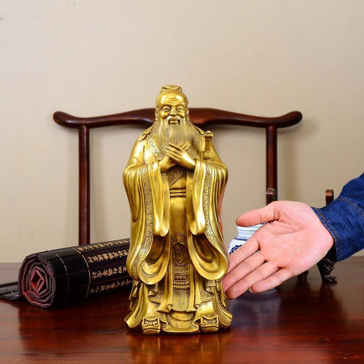 HOT SALE # the East Chinese Confucian culture Confucius Institute CHINA Confucius KONG ZI BRASS ART Statue-- GOOD OFFICE ARTHOT SALE # the East Chinese Confucian culture Confucius Institute CHINA Confucius KONG ZI BRASS ART Statue-- GOOD OFFICE ART