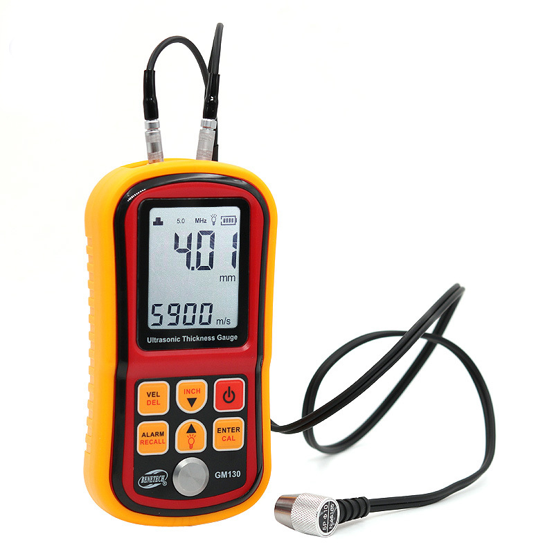GM100/GM130 Digital Ultrasonic Thickness Gauge Metal Testering Measuring Instruments Sound Velocity Meter