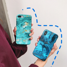 LISM Casing For iPhone 6 6S 7 8 Plus X XR XS Max Colorful Marble Pattern Soft IMD Phone Case Cover Anti-knock Protector