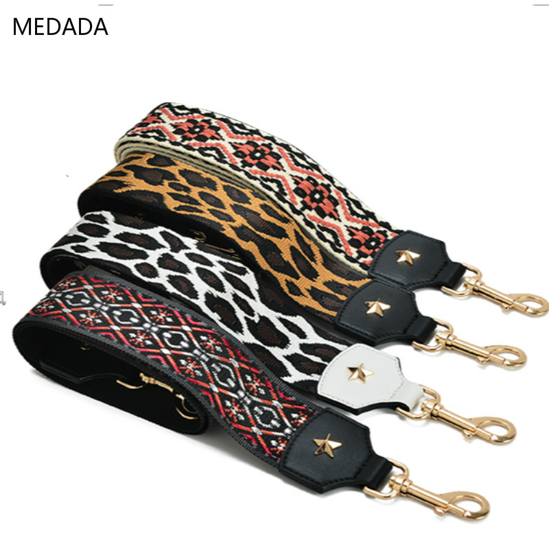 MEDADA Women's Bag Accessories Inclined Shoulder Strap Embroidery Ribbon National Long Shoulder Strap 110cm
