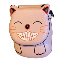 JUILE Womens Mobile Phone Bag Cartoon Female Messenger Shoulder Bags Crossbody Cute Fashion Pu Leather Mini cat Handbags