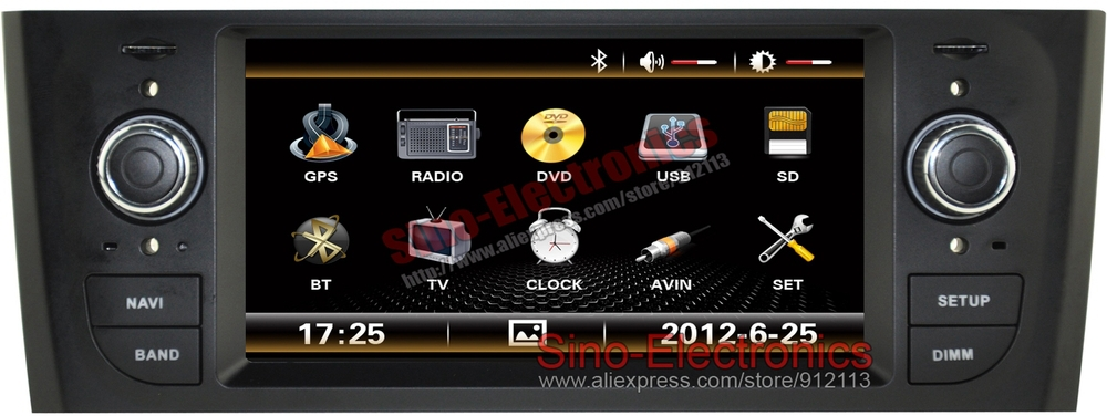 autoradio gps for fiat grande punto linea central. Black Bedroom Furniture Sets. Home Design Ideas