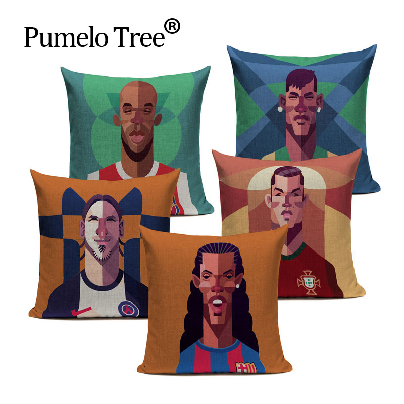 athlete Superstar style football basketball Celebrities Replaceface Cushion Covers Pillow Cover Sofa Seat Linen Pillow Case