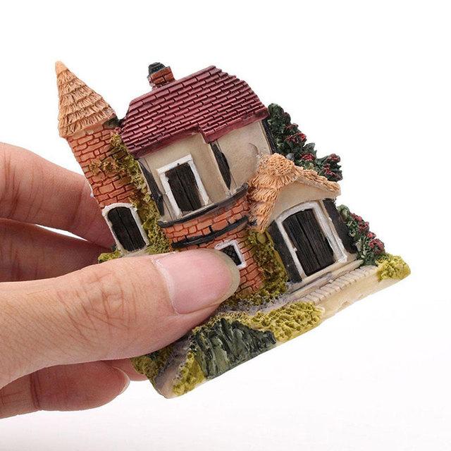 Miniature House Fairy Garden Micro Landscape Home Decoration Resin Craft Decor