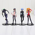 Japanese anime figure aciton PVC scale models EVA Neon Genesis Evangelion toys Q version 4pcs/set