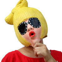 Funny Halloween Female Villain Joke Celebrity Mask Prank Creepy Cosplay Masquerade Latex Masks Evil Emoji